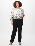 Roz & Ali Secret Agent Tummy Control Pants Cateye Rivets - Average Length - Plus - 4