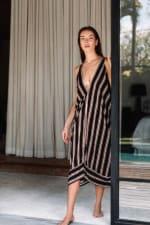 Striped Loose Dress - 4