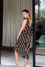Striped Loose Dress - 5