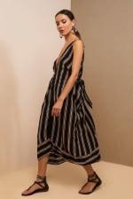 Striped Loose Dress - 8