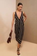 Striped Loose Dress - 10