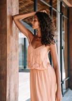 Lisa Midi Spaghetti-Strap Dress - 4