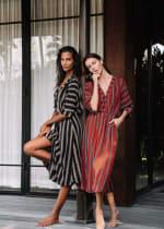 Kaftan Striped Dress - 3
