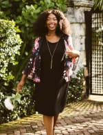 Marina Sleeveless Floral Chiffon Jacket Dress - 4