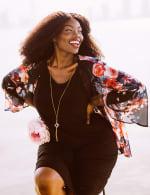 Marina Sleeveless Floral Chiffon Jacket Dress - 5