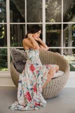 Juliette V-Neckline Boho Chic Botanica Dress - 4