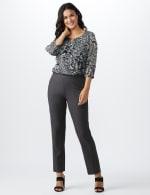 Roz & Ali Secret Agent  Pull on Tummy Control Pants with L Pockets - Average - 12