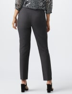 Roz & Ali Secret Agent  Pull on Tummy Control Pants with L Pockets - Average - Grey - Back