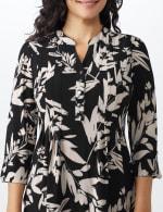 Neutral Vine Floral Knit Popover - 5