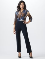 Roz & Ali Secret Agent  Pull on Tummy Control Pants with L Pockets - Average - 17