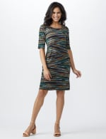 Teal Tiered Bandage Dress - Teal - Front