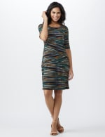Elbow Sleeve Teal Tiered Bandage Dress - 5