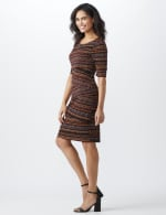Elbow Sleeve Tiered Bandage Dress - 3