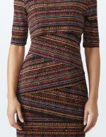 Elbow Sleeve Tiered Bandage Dress - 4