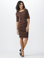 Elbow Sleeve Tiered Bandage Dress - 5