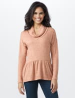 Cowl Neck Knit Top - 6