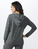 DB Sunday Animal French Terry Knit Hoodie - Grey/Black - Back