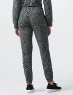 DB Sunday Animal French Terry Knit Jogger - Grey/Black - Back