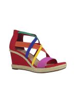 Impo Tacara Wedge Sandals - Bright Multi - Front