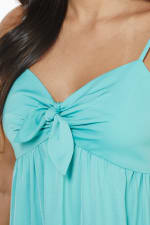 Knot Tie Midi Dress - Teal - Detail