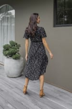 Agung Short Sleeve Midi Dress - 2