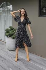 Agung Short Sleeve Midi Dress - 3