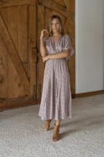 Bianka V-Neck Maxi Dress - 2