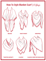 """Cozy Red Plaid Blanket Scarf """"Can Be Worn Six Ways"""" - Red - Back"""