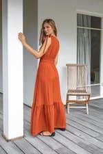 Phobe Dress - Cayenne - Back