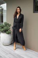 Eden Dress - Plus - Black - Front
