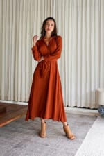 Eden Dress - Plus - Cayenne - Front