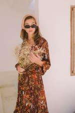 Long Sleeve Autumn Peasant Dress - 3