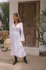 Classic White Long Sleeve Dress - 3