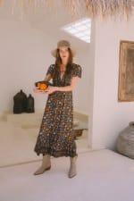 Peasant Flowy Dress - 3