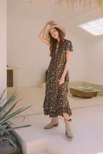 Peasant Flowy Dress - 6