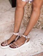 Mia Lunna Lucite Platform Sandal - 6