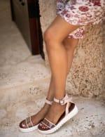 Mia Lunna Lucite Platform Sandal - 7