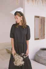 Oversized Midi Babydoll Dress - Plus - 7