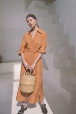 Iconic Apricot Shirt Dress - Plus - 5