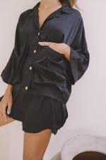 Cashmere-Like Flowy Shorts - 5
