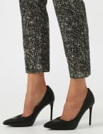 Roz & Ali Paisley Print Superstretch Pull On Ankle Pants With Slits - 5