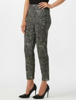 Roz & Ali Paisley Print Superstretch Pull On Ankle Pants With Slits - 4