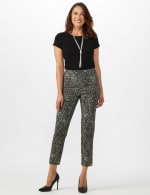 Roz & Ali Paisley Print Superstretch Pull On Ankle Pants With Slits - 6