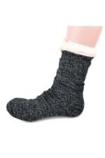 Sherpa Lined Slipper Socks - 3