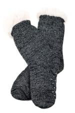 Sherpa Lined Slipper Socks - 4