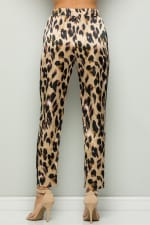 Contrast Statement Pants with Leopard Print - 2