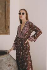 Long Sleeve Morrocan Wrap Dress - Plus - 5