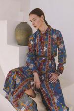 Tribal Print Midi Shirt-Dress - 6