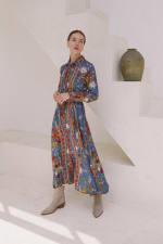 Tribal Print Midi Shirt-Dress - 2