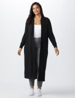 French Terry Duster Hoodie - Plus - Black - Front